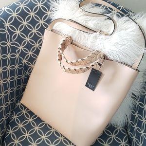 Anthro Jules Kae blush tote / carry on bag / purse